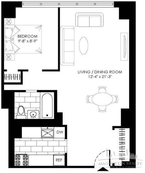 Studio, Turtle Bay Rental in NYC for $3,625 - Photo 2