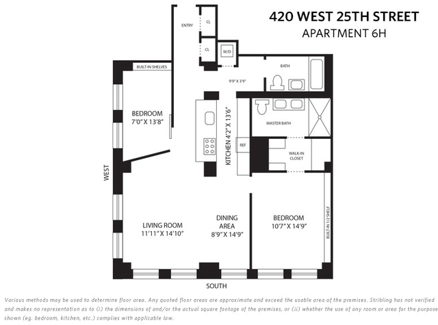 2 Bedrooms, Chelsea Rental in NYC for $6,195 - Photo 2