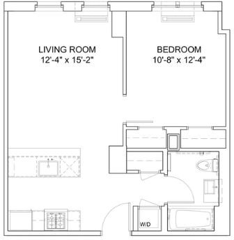 1 Bedroom, Hell's Kitchen Rental in NYC for $3,639 - Photo 2