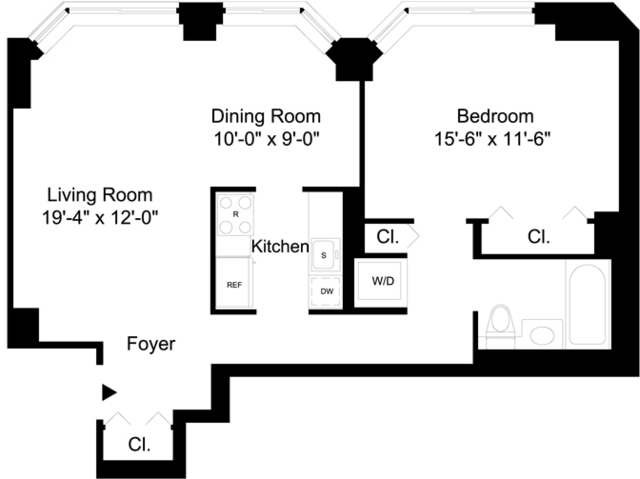 2 Bedrooms, Financial District Rental in NYC for $4,725 - Photo 1