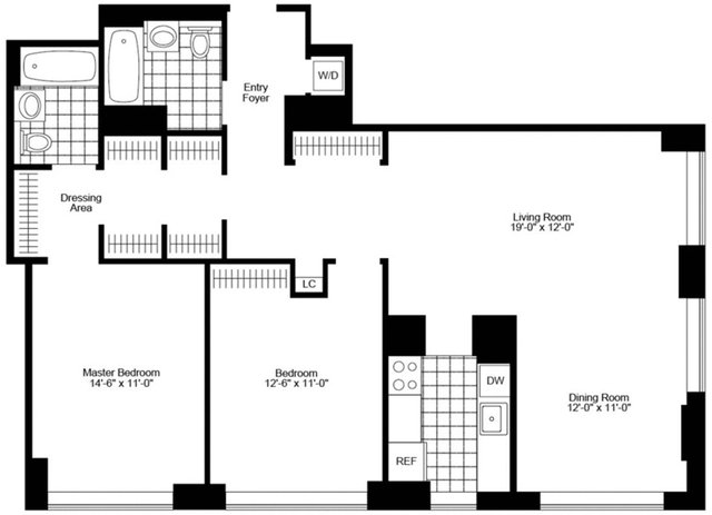 2 Bedrooms, Battery Park City Rental in NYC for $7,595 - Photo 2