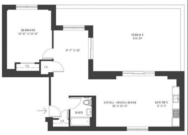 1 Bedroom, Bushwick Rental in NYC for $3,495 - Photo 2