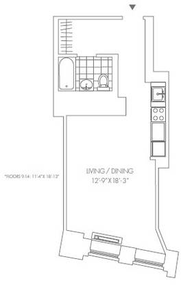 Studio, Financial District Rental in NYC for $2,535 - Photo 2