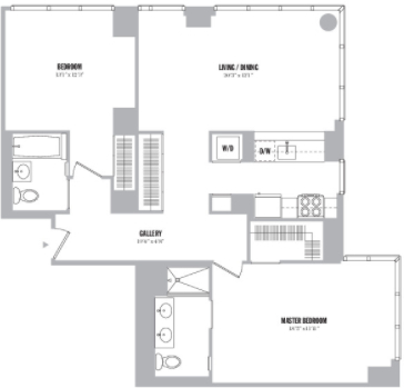 2 Bedrooms, Chelsea Rental in NYC for $7,380 - Photo 2