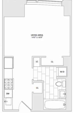 Studio, Financial District Rental in NYC for $3,695 - Photo 2