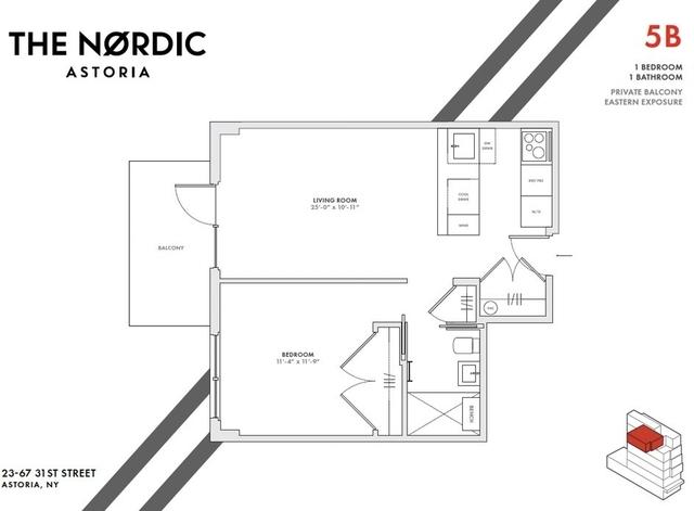 1 Bedroom, Astoria Rental in NYC for $3,438 - Photo 2