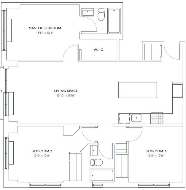 3 Bedrooms, Hell's Kitchen Rental in NYC for $6,654 - Photo 2
