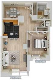 1 Bedroom, Hunters Point Rental in NYC for $3,865 - Photo 1