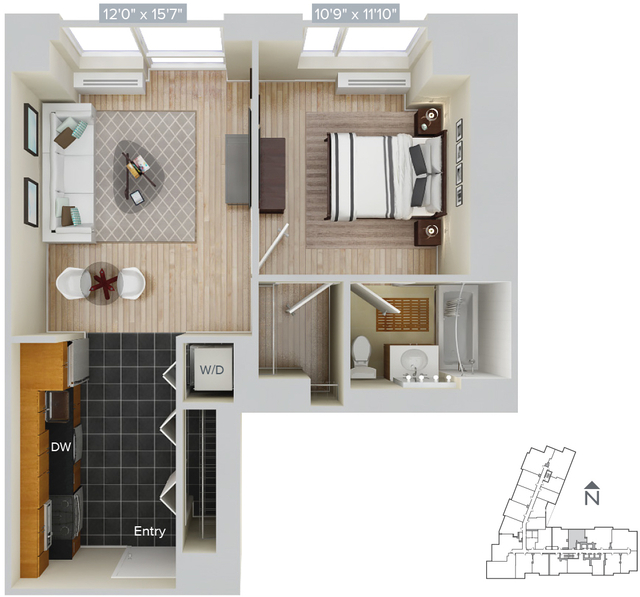 1 Bedroom, Hunters Point Rental in NYC for $3,235 - Photo 1