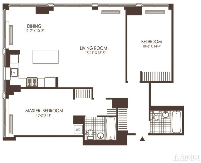 2 Bedrooms, Hunters Point Rental in NYC for $4,487 - Photo 2