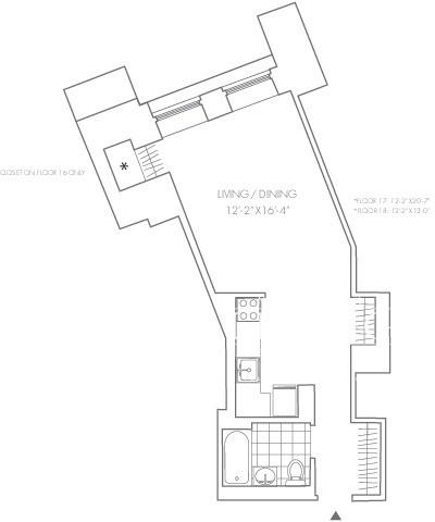 Studio, Financial District Rental in NYC for $2,938 - Photo 2