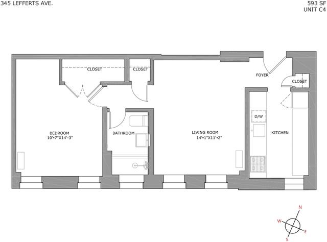 1 Bedroom, Prospect Lefferts Gardens Rental in NYC for $2,169 - Photo 2