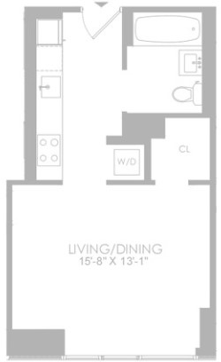Studio, Hell's Kitchen Rental in NYC for $3,085 - Photo 2
