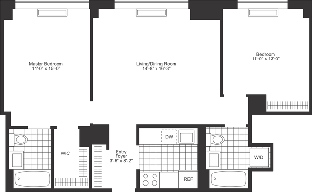 2 Bedrooms, Chelsea Rental in NYC for $7,105 - Photo 2