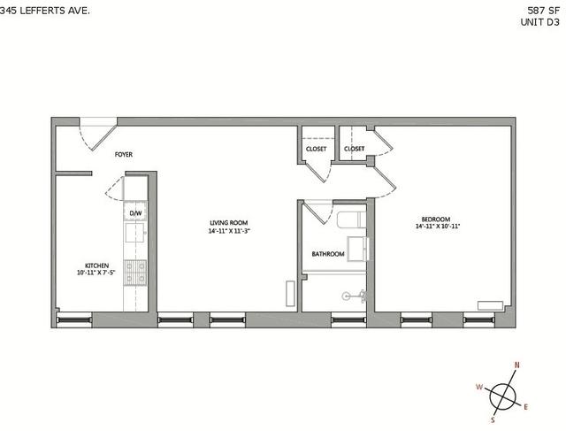 1 Bedroom, Prospect Lefferts Gardens Rental in NYC for $2,325 - Photo 2