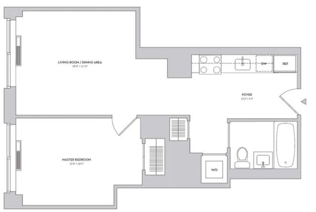 1 Bedroom, Lincoln Square Rental in NYC for $3,108 - Photo 2