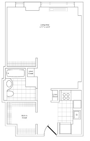 Studio, Rose Hill Rental in NYC for $2,538 - Photo 2