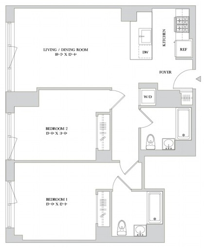 2 Bedrooms, Hell's Kitchen Rental in NYC for $5,829 - Photo 2
