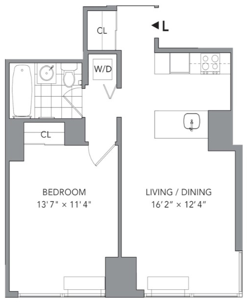1 Bedroom, Hell's Kitchen Rental in NYC for $4,140 - Photo 2