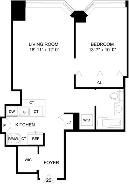 1 Bedroom, Garment District Rental in NYC for $4,106 - Photo 2