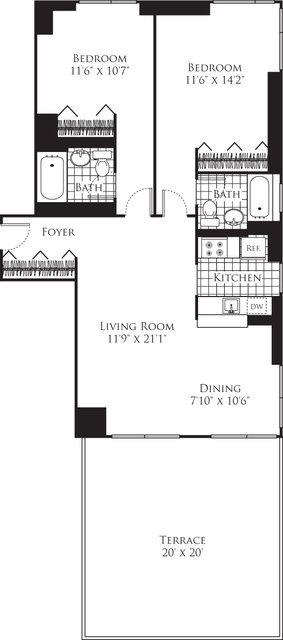 2 Bedrooms, Chelsea Rental in NYC for $6,704 - Photo 2