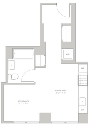 Studio, Long Island City Rental in NYC for $2,667 - Photo 2