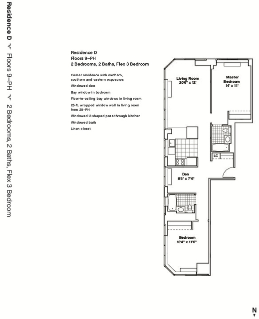 2 Bedrooms, Hell's Kitchen Rental in NYC for $5,502 - Photo 2