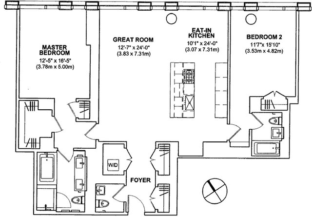 2 Bedrooms, Tribeca Rental in NYC for $11,500 - Photo 2