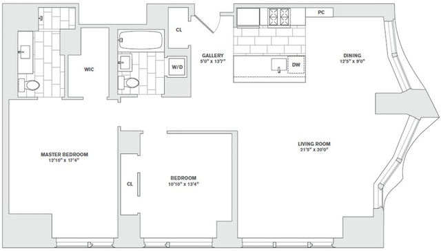 2 Bedrooms, Financial District Rental in NYC for $9,500 - Photo 2