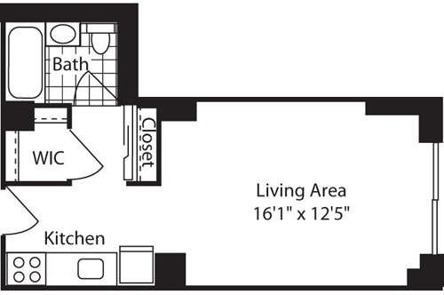 Studio, West Village Rental in NYC for $3,653 - Photo 2