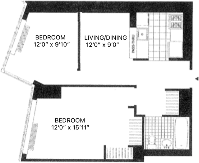 1 Bedroom, Hunters Point Rental in NYC for $3,323 - Photo 2