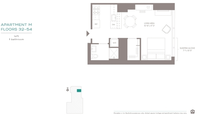 Studio, Hell's Kitchen Rental in NYC for $3,371 - Photo 2