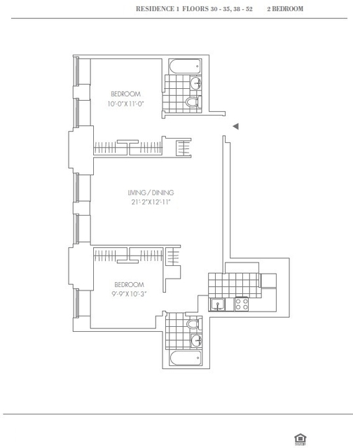 2 Bedrooms, Financial District Rental in NYC for $5,539 - Photo 2
