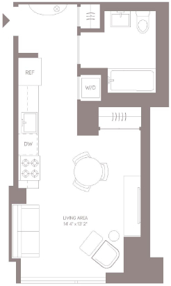 Studio, Hell's Kitchen Rental in NYC for $3,966 - Photo 2