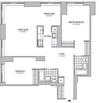 2 Bedrooms, Battery Park City Rental in NYC for $7,650 - Photo 2