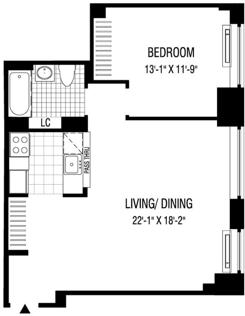 1 Bedroom, Financial District Rental in NYC for $3,841 - Photo 2