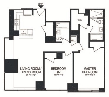 2 Bedrooms, Battery Park City Rental in NYC for $7,500 - Photo 2