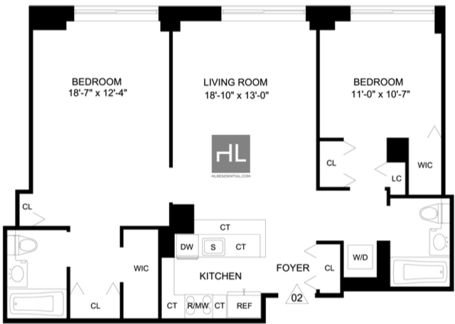 2 Bedrooms, Garment District Rental in NYC for $5,595 - Photo 2