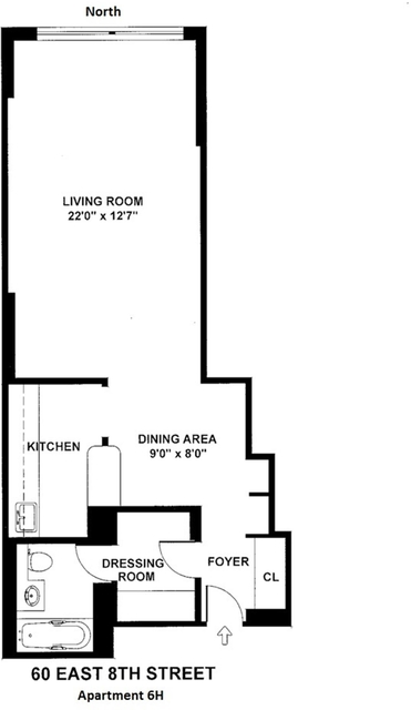 Studio, Greenwich Village Rental in NYC for $3,400 - Photo 2