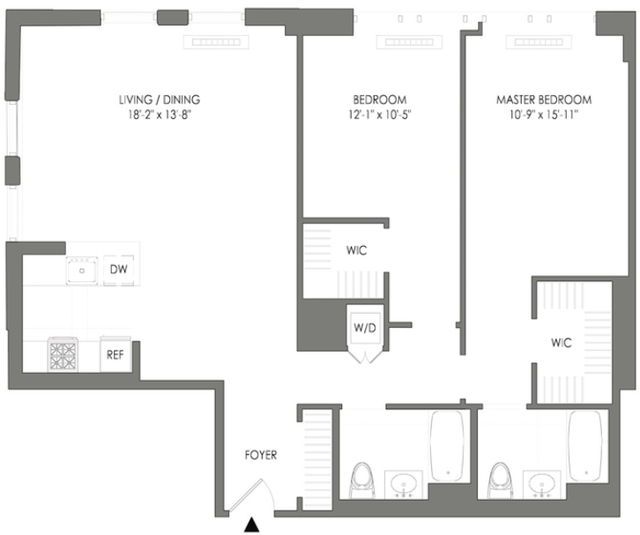 2 Bedrooms, Long Island City Rental in NYC for $5,077 - Photo 2