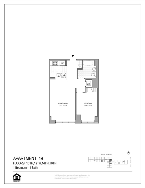 1 Bedroom, Hell's Kitchen Rental in NYC for $3,386 - Photo 2