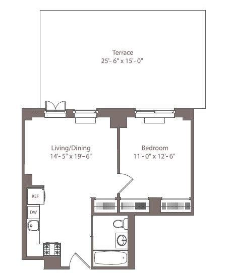 1 Bedroom, Downtown Brooklyn Rental in NYC for $3,499 - Photo 1