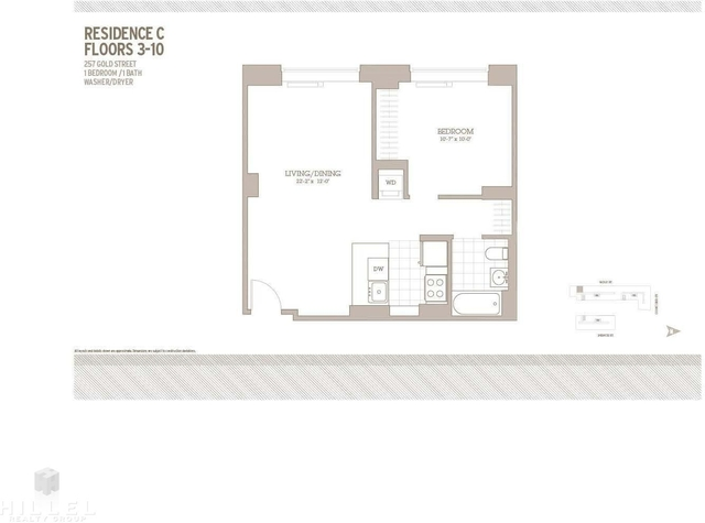 1 Bedroom, Downtown Brooklyn Rental in NYC for $2,910 - Photo 1