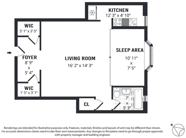 Studio, Turtle Bay Rental in NYC for $2,595 - Photo 2