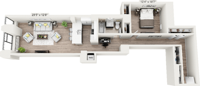 Studio, Financial District Rental in NYC for $4,395 - Photo 1