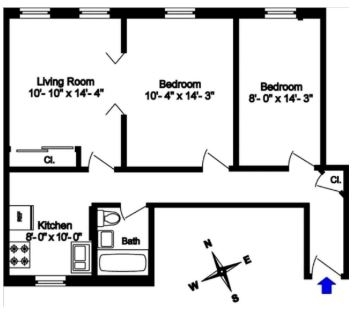 2 Bedrooms, Morningside Heights Rental in NYC for $3,100 - Photo 2