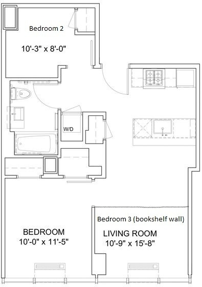 2 Bedrooms, Hell's Kitchen Rental in NYC for $4,495 - Photo 2