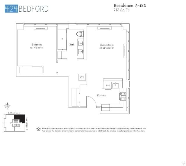 1 Bedroom, Williamsburg Rental in NYC for $4,135 - Photo 2