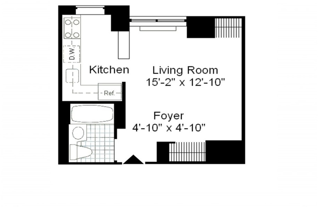 Studio, Theater District Rental in NYC for $3,145 - Photo 2