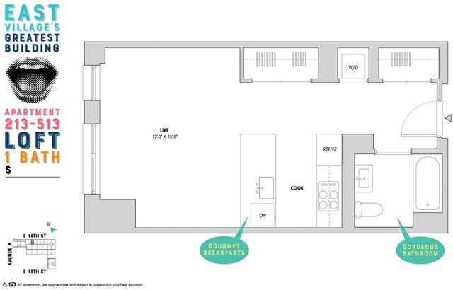 Studio, Alphabet City Rental in NYC for $3,579 - Photo 2